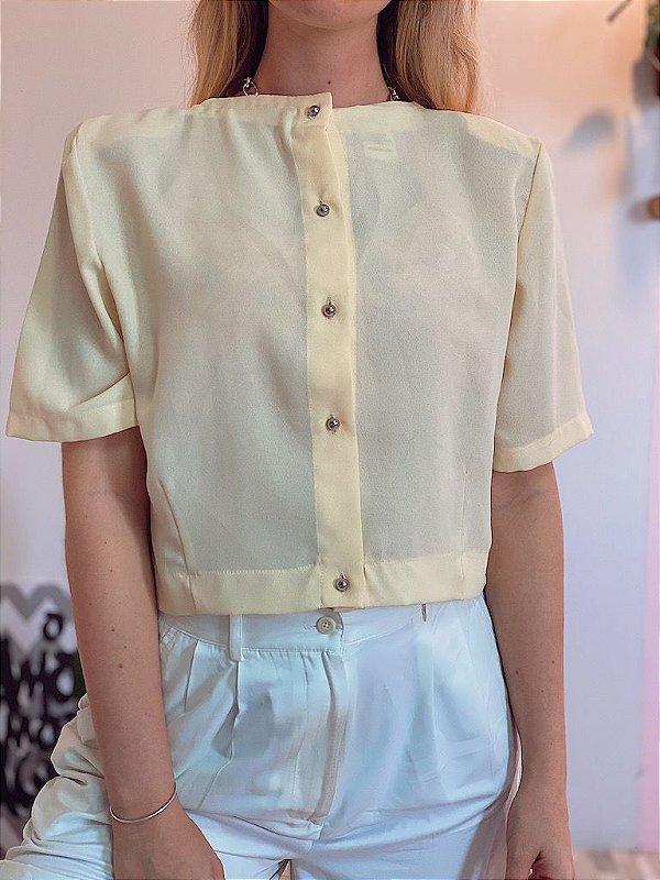 Camisa cropped vintage