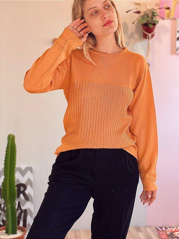 Suéter vintage laranja