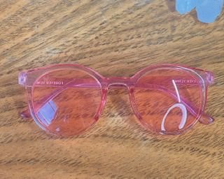 Óculos acrílico rosa