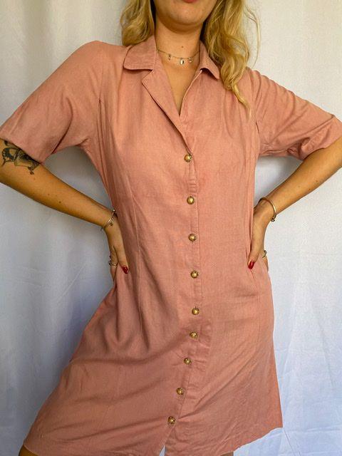 Vestido Midi Rosa Seco (M)