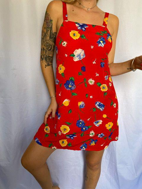 Vestido florido red (P/M)