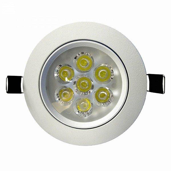 Spot de LED Redondo Embutir 7W 6500K - Branco Frio