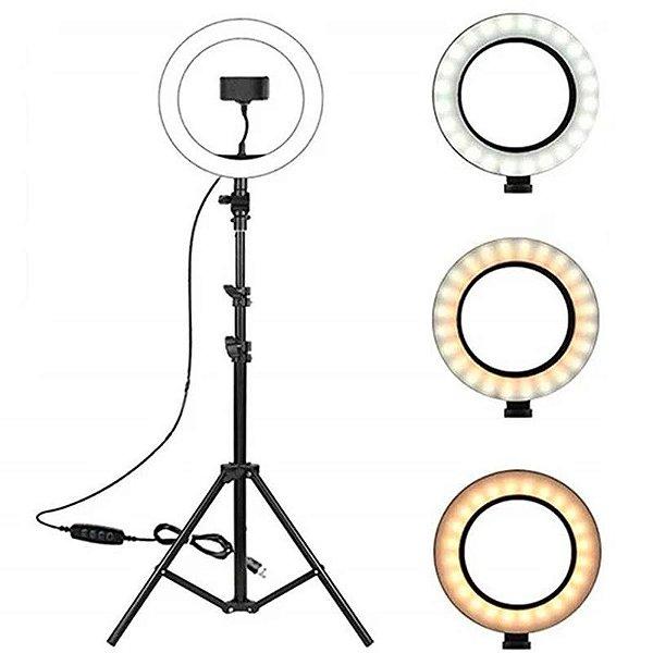 Ring Light Led - Tripé 2m + Adaptador