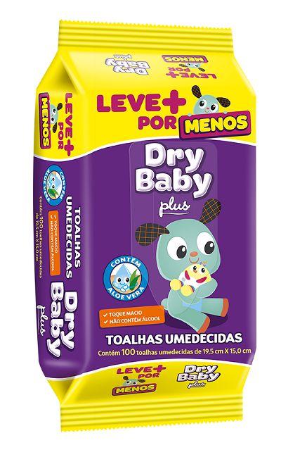 TOALHA UMEDECIDA DRY BABY C/100
