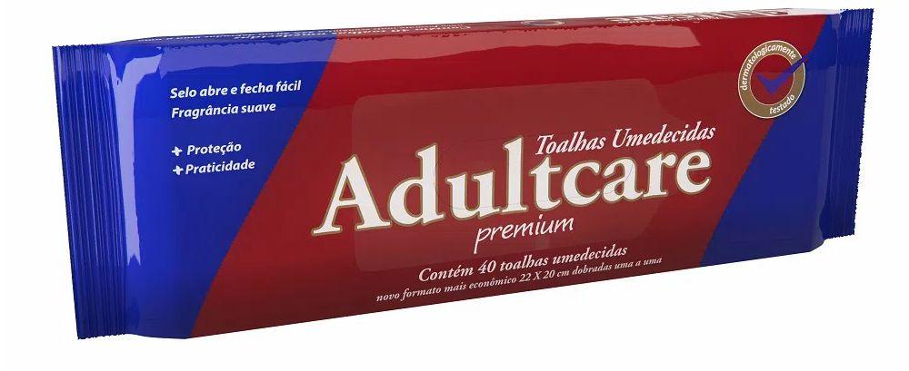 TOALHA UMEDECIDA ADULTO ADULTCARE C/40