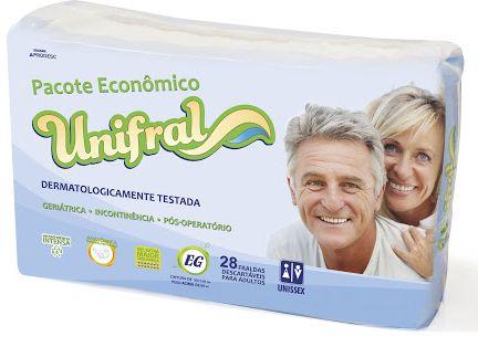 FRALDA GERIÁTRICA UNIFRAL EXTRA GRANDE C/28