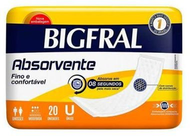 Absorvente BigFral com 20 unidades