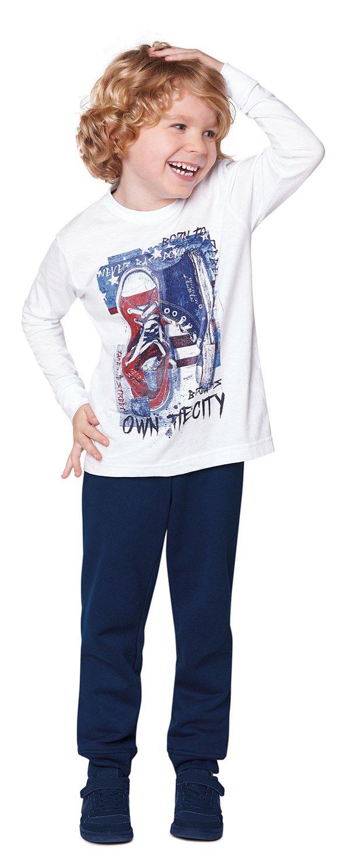 Camiseta tamanho 4 a 16 manga longa em malha penteada 100% algodao- COR BRANCA