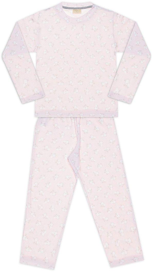 Pijama tamanho 1 ao 8 em suedine 100% Algodao Egipcio | COR: ROSA COM CARNEIRINHOS
