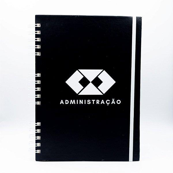 Caderno Universitário- Capa Preta Profissão Administração