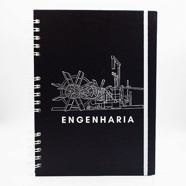 Caderno Universitário - Capa Preta Profissão Engenharia