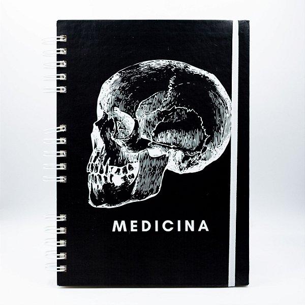 Caderno Universitário - Capa Preta Profissão Medicina