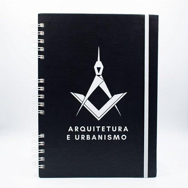Caderno Universitário - Capa Preta Profissão Arquitetura e Urbanismo
