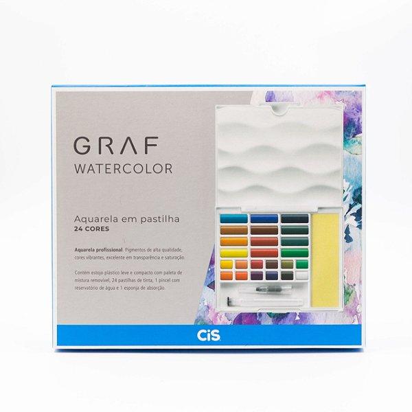 Graf Watercolor Aquarela em Pastilhas (24 Cores)
