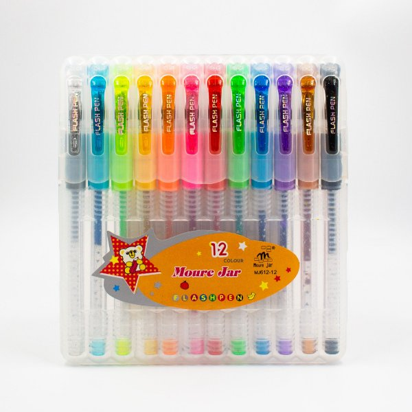 Caneta Gel  Flash Pen c/12 Cores