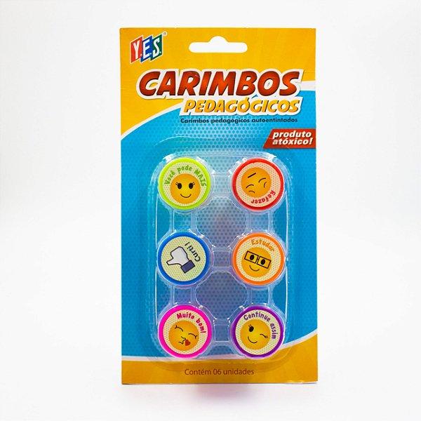 Carimbo Auto entintado - Pedagógico Cb064-3 - Yes