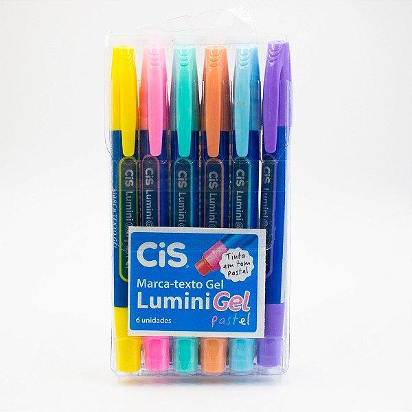Marca Texto Gel Lumini Pastel c/6und.