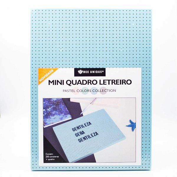 Mini Quadro Letreiro - Bee Unique- Azul