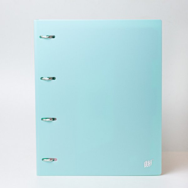 Fichário tons pastel cor Azul A4 - YES