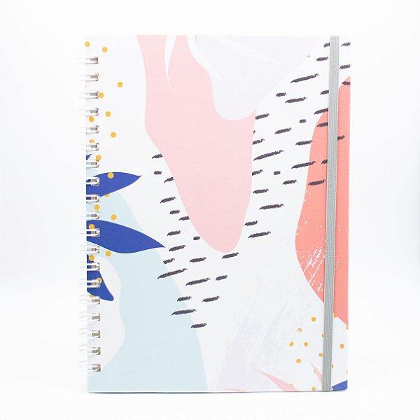 Caderno Universitário Espiral - Floral - Collab @paula.chavess (Polén)