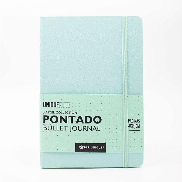 Caderno Pontado UniqueNote - tons pastel VERDE Sl-l90048