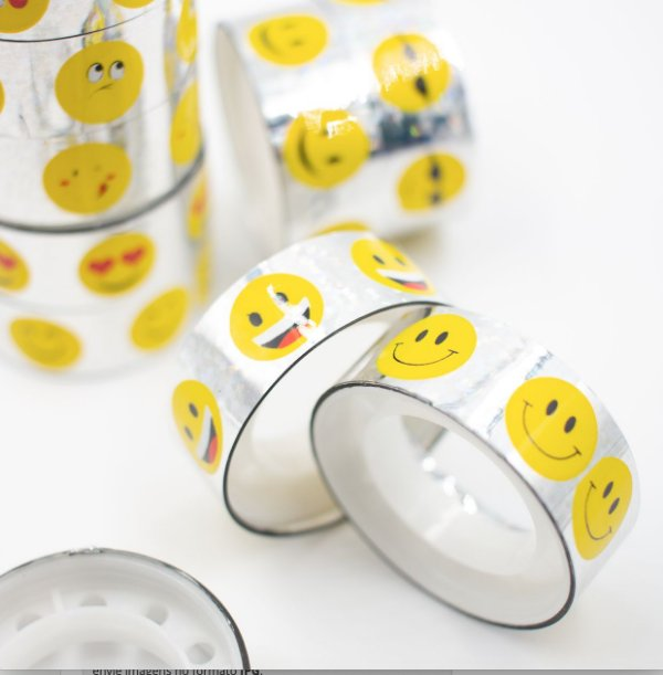 Fita Adesiva Decorativa  Washi Tape smile  kit c/10 und.