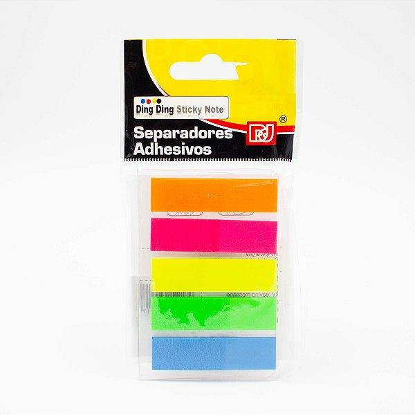 Marca Página Adesivo Colorido c/5 Cores Neon