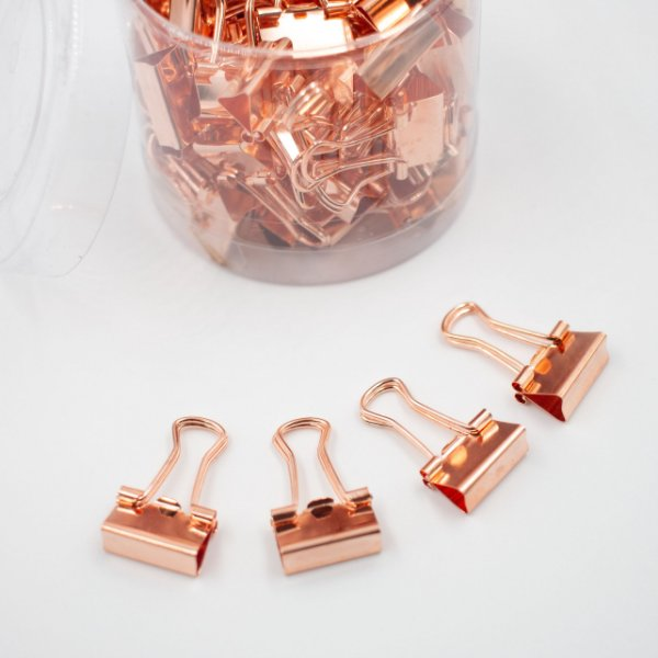 Binder Clips RoseGold 15mm  c/60pcs BN308
