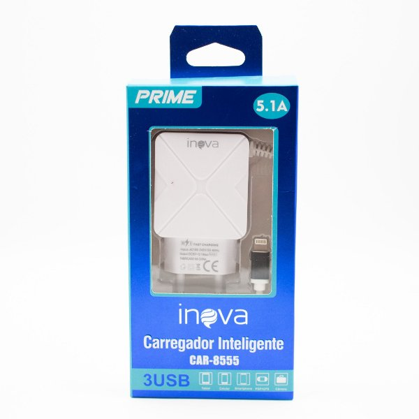 Carregador Inteligente Inova Turbo 5.1 Iphone Car-G8555