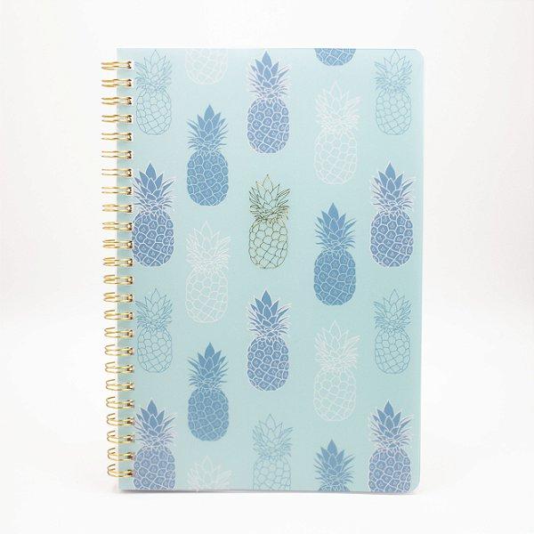 Caderno Espiral Abacaxi Azul  SL-NB0007