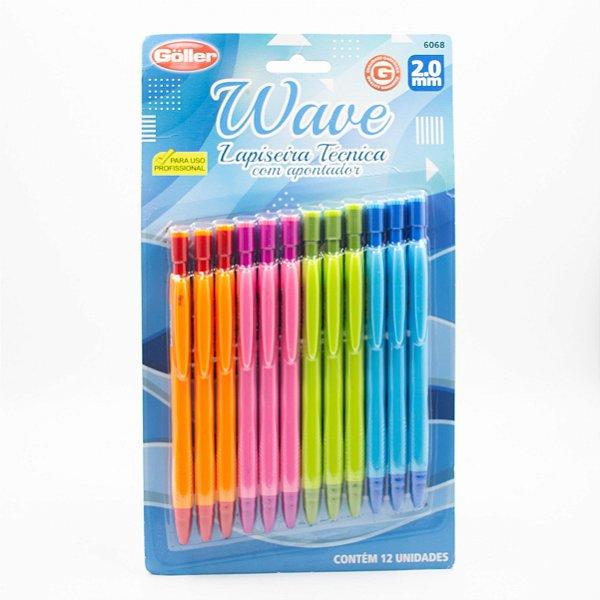Lápiseira Técnica com Apontador Wave 2.0 c/12