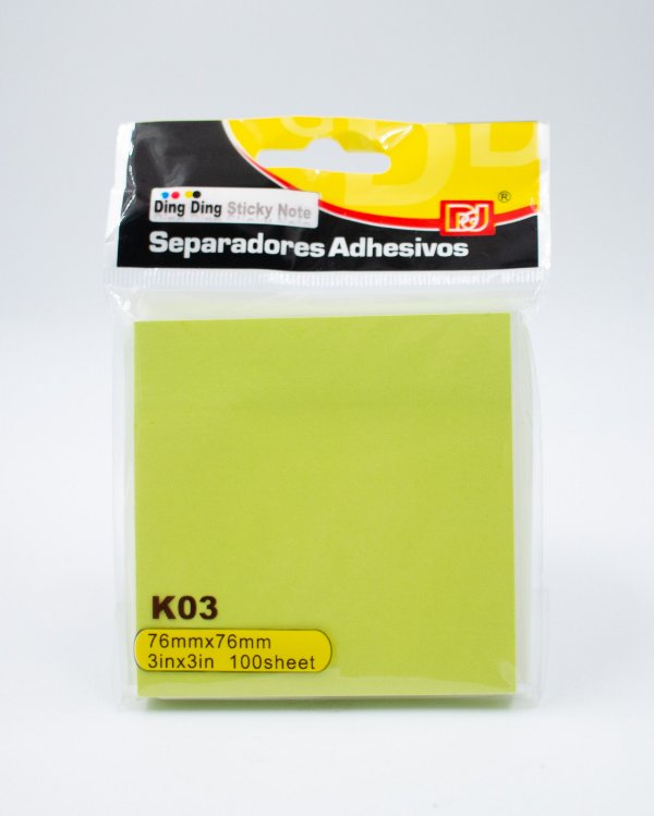 Bloco Autoadesivo Neon - c/ 90 folhas (Verde)