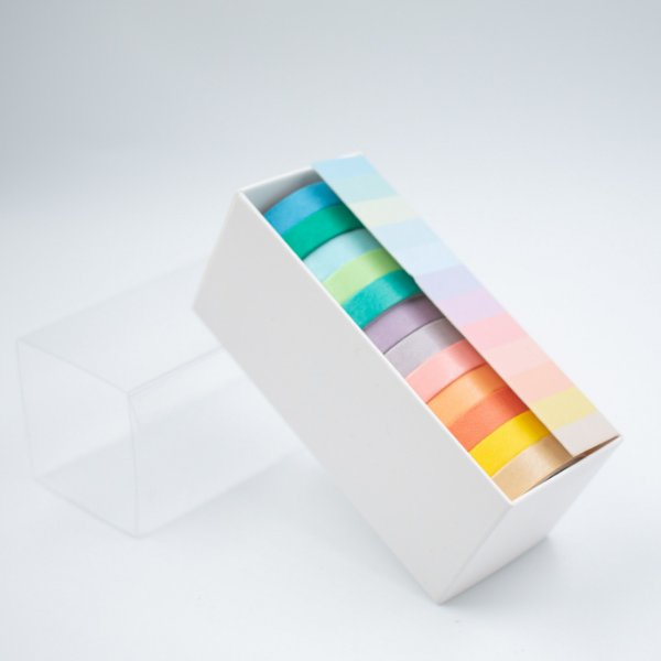 Fita Adesiva Decorativa Tons Pastel  Washi Tape kit c/12 und.