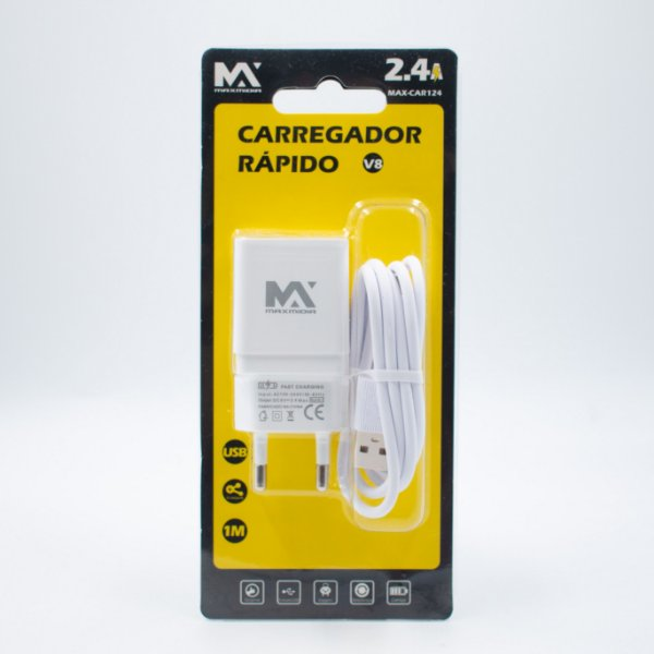 Carregador  2.4A V8 Maxmidia
