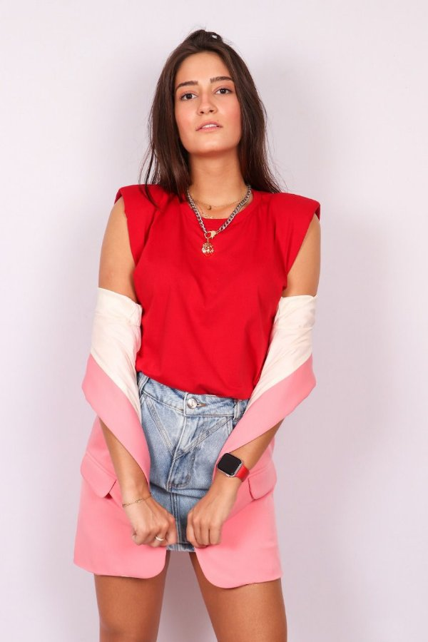 MUSCLE TEE RED