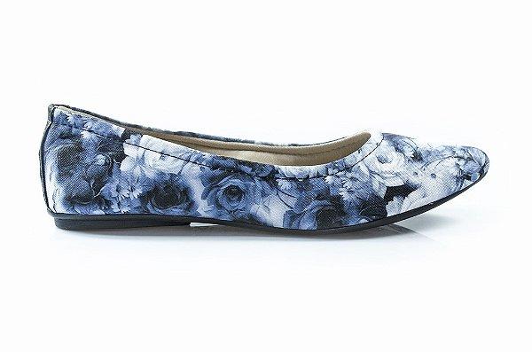 Sapatilha Kerria Floral Azul