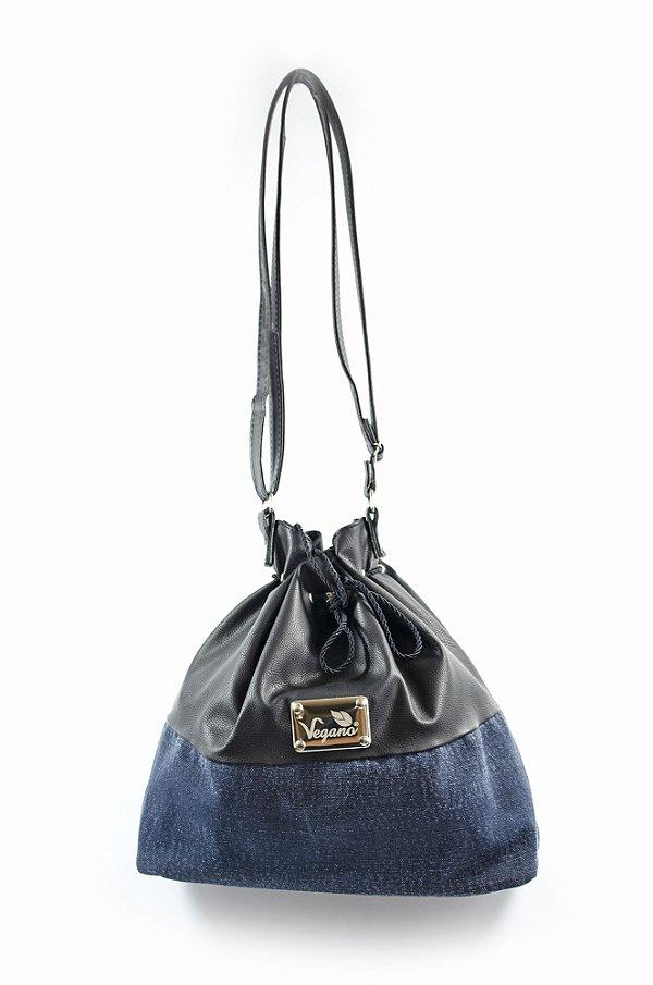 Bolsa Saco Bromélia 164 preta/Jeans