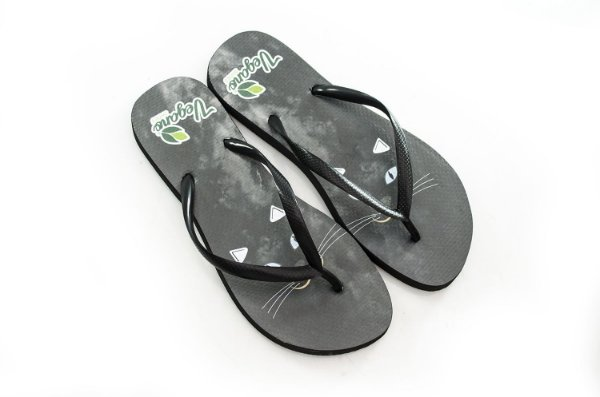 Chinelo Nature Whisker black