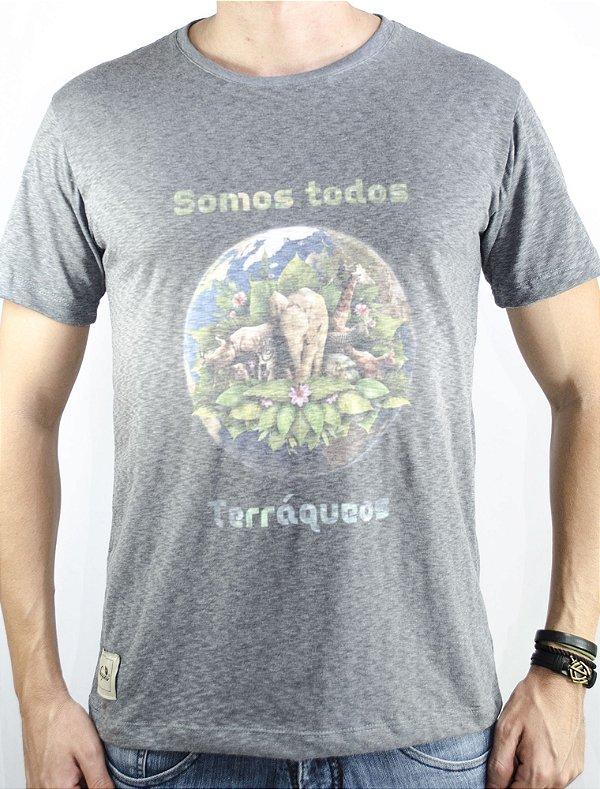 """Camiseta """"Somos todos terráqueos"""" mescla"""