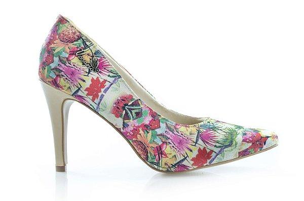 Sapato Scarpin  Spirea Floral