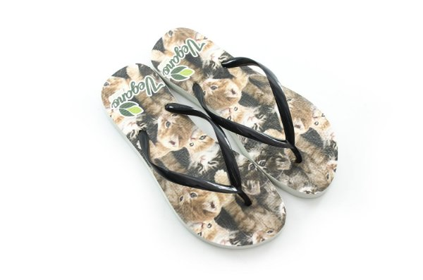 Chinelo Nature Cat - Black