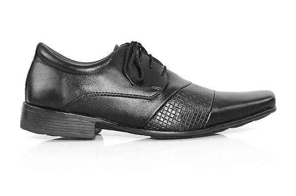 Sapato Social Vegan Nature preto com cadarço
