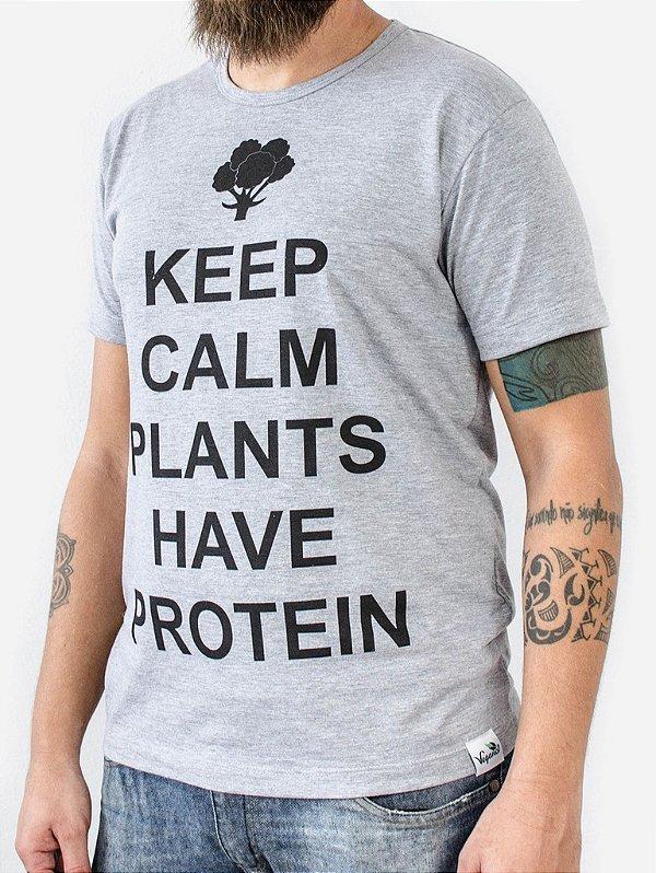 Camiseta Keep Calm cinza 1031