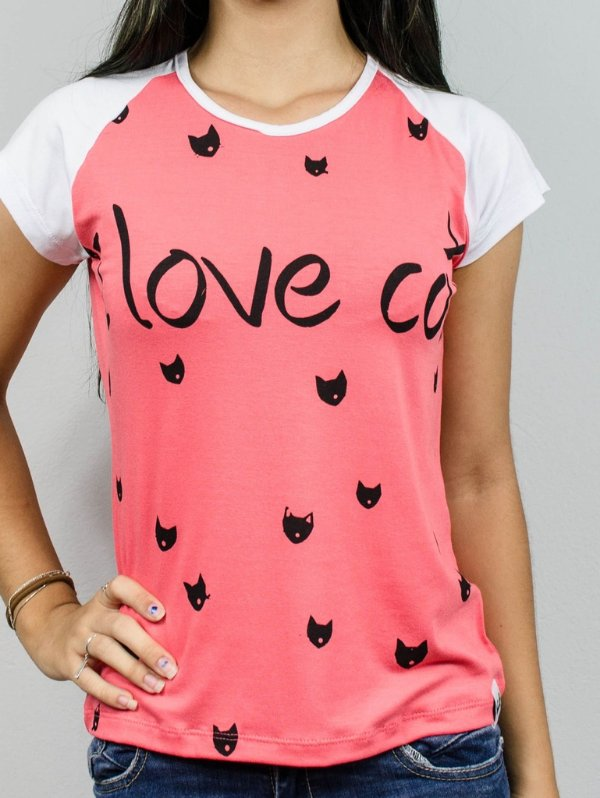 Baby look  I love cats 1151 dolce/branco