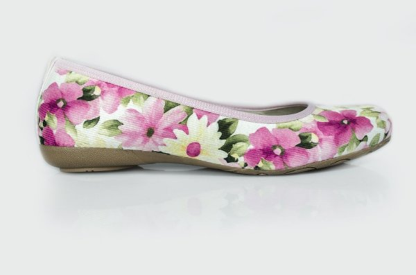 Sapatilha Alamanda floral/rosa