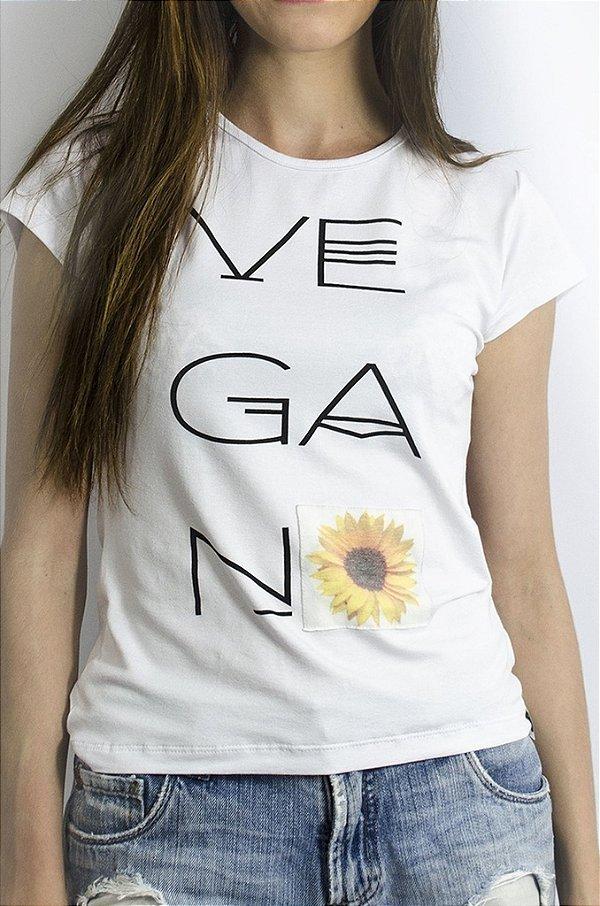 Baby look  veganX 1111 branca
