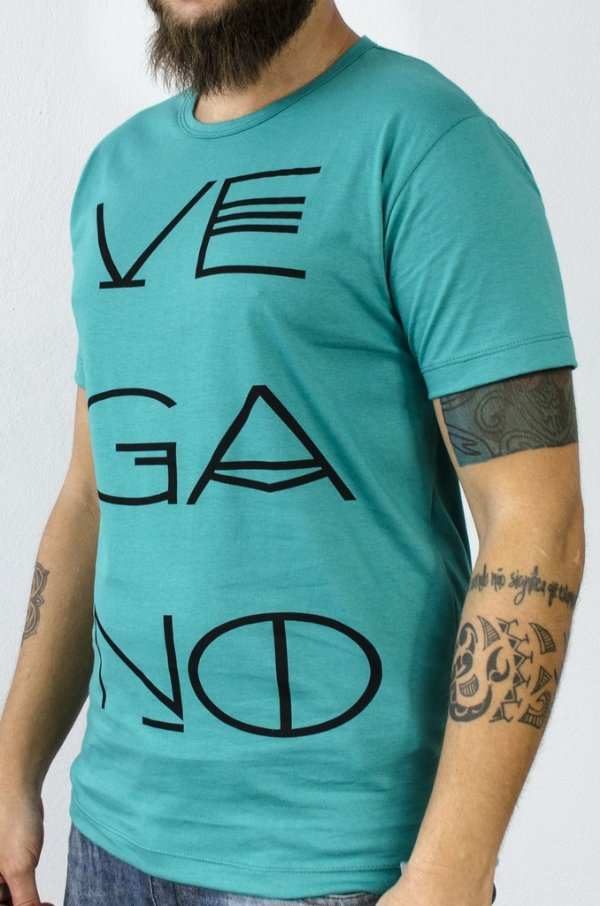 Camiseta Vegano 1001 verde