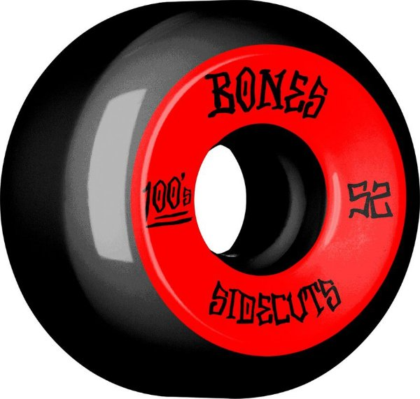 RODA BONES 100s 52MM SIDECUTS BLACK/RED 100A