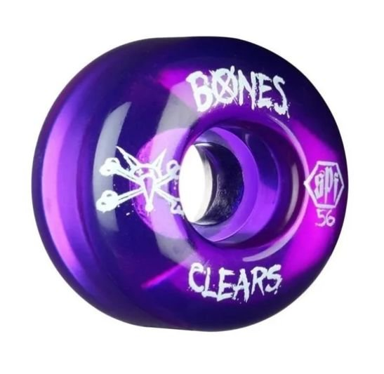 RODA BONES CLEAR 56MM PURPLE 104A