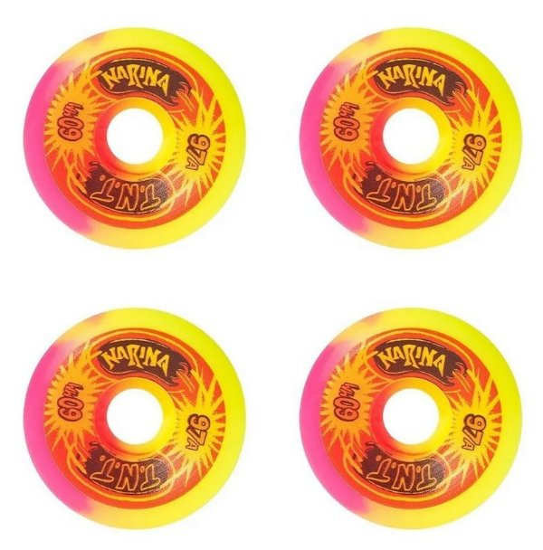 RODA NARINA 60MM Yellow/Pink 97A